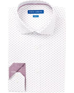 Ruby Square Print Slim Fit Dress Shirt