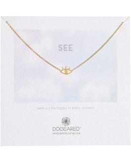 Gold Dipped Sterling Silver All Seeing Eye Necklace