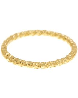 14k Gold Plated Sterling Silver Sparkle Midi Ring - Size 2