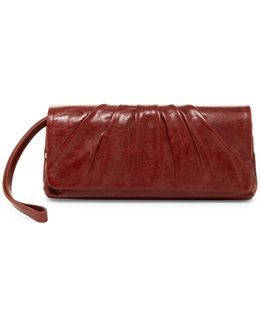 Darla Leather Wristlet Clutch