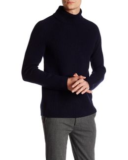 Mock Neck Wool Blend Sweater