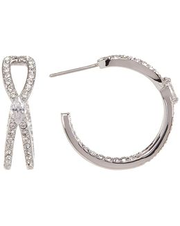 Intertwine Cz Hoop Earrings
