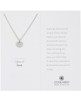 Sterling Silver Token Of Love Heart Pendant Necklace