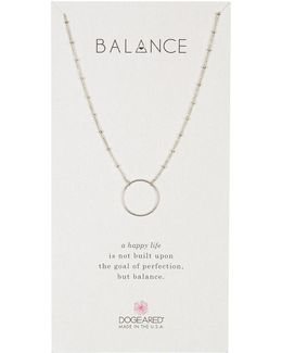 Sterling Silver Balance Open Ring Necklace