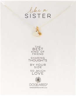 Two-tone Like A Sister Charm Necklace