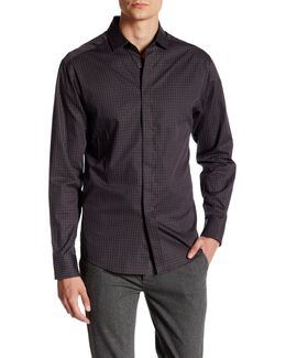 Printed Long Sleeve Contemporary Fit Sport Shirt