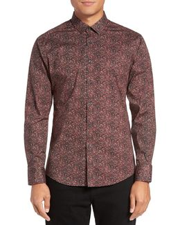 Slim Fit Print Sport Shirt