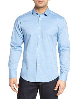 Trim Fit Dobby Dot Sport Shirt