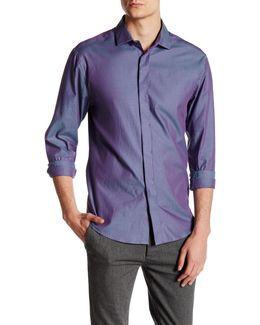 Contemporary Fit Stripe Sport Shirt