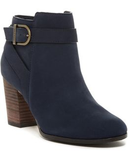 Cassidy Buckle Leather Bootie