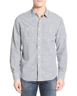 'workshirt' Trim Fit Stripe Sport Shirt