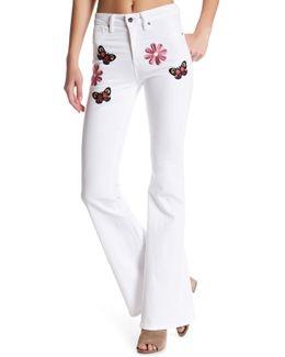 Hepburn Floral Patch Flare Jean