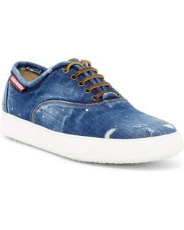 Denim Lace-up Sneakers