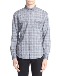 Glenplaid Long Sleeve Trim Fit Shirt