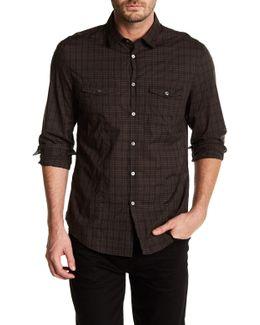 Plaid Long Sleeve Slim Fit Shirt