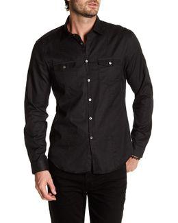 Pinstripe Long Sleeve Slim Fit Shirt