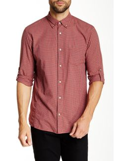 Long Sleeve Roll Up Slim Fit Shirt