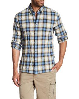 Plaid Long Sleeve Trim Fit Shirt