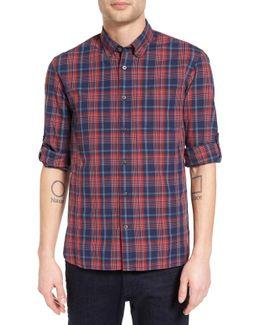 Mitchell Plaid Long Sleeve Trim Fit Shirt