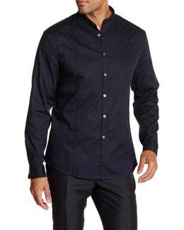 Grid Pattern X-trim Fit Shirt