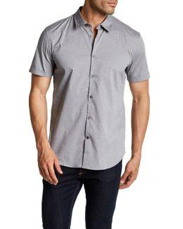 Cuffed Short Sleeve Slim Fit Shirt