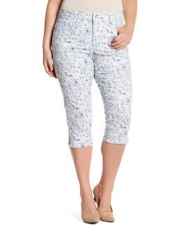 Ariel Stretch Twill Crop Pant (plus Size)
