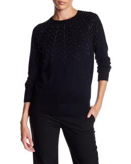 Dyanii Rhinestone Sweater