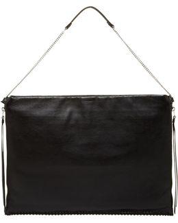Fleur De Lis Leather Shoulder Bag