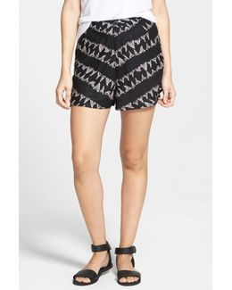'lower Deck' Print High Waist Shorts (juniors)