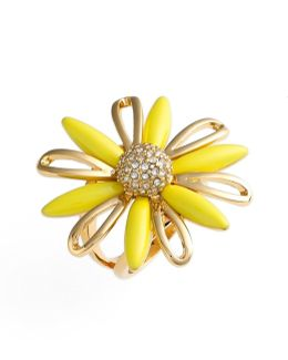 14k Gold Plated Daisy Dreams Cocktail Ring