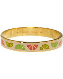 Gold Plated Sweet Deal Printed Bangle