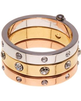 Mixed Metal Hinged Ring