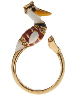 Gold Plated Pelican Ring
