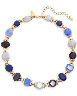 12k Gold Plated Jewel Collar Necklace