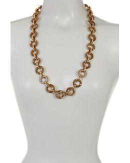 Gold Plated Long Link Necklace