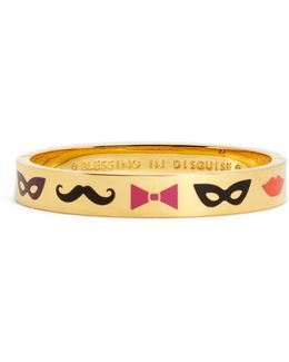 Gold Plated Blessing In Disguise Hinge Bangle
