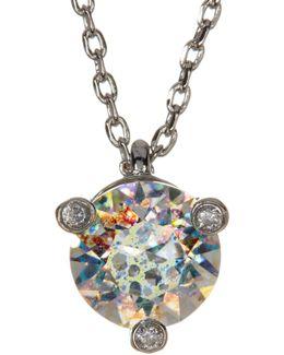 Mini Rhinestone Pendant Necklace