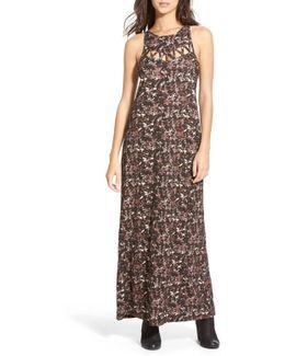 Tied Up Print Maxi Dress