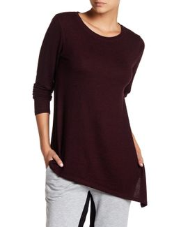 Softy Long Sleeve Asymmetrical Hem Knit Tee