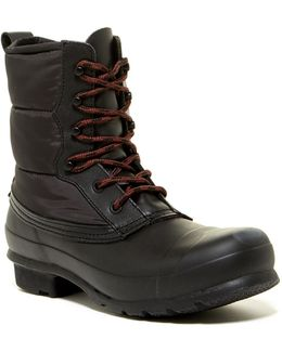Original Short Quilted Lace-up Boot