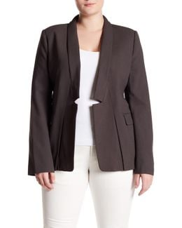 Solid Blazer Jacket