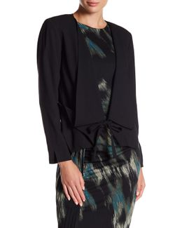 Hi-lo Shawl Collar Jacket