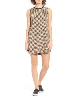 Seldom Basketweave Print Shift Dress