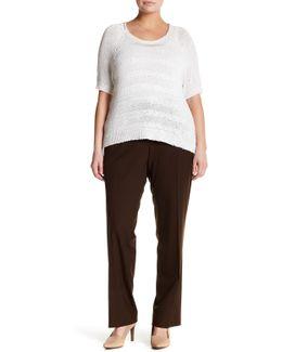 Wool Blend Straight Leg Pant (plus Size)