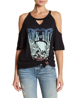 Cold Shoulder Graphic Tee