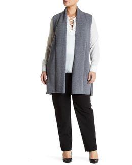 Wool Cashmere Blend Vest (plus Size)