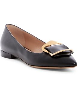 Pointed Toe Buckle Flat