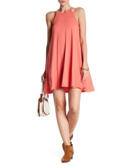 High Neck Knit Swing Dress