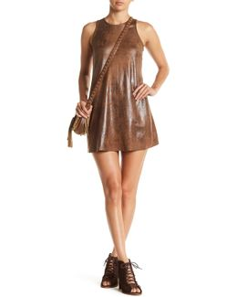 Faux Leather Tank Dress