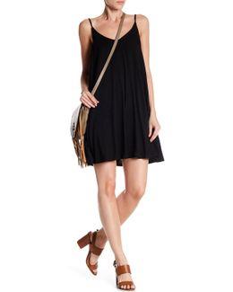 V-neck Solid Dress